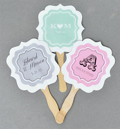 hand fans for wedding 48 personalized custom monogram anniversary wedding paddle