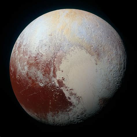 what color is the planet pluto pluto s features glow in new false color view of the