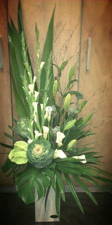 contemporary flower arrangements  church google