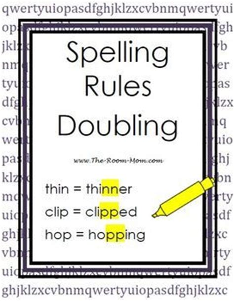 When The Other Is Spelling by Spelling Doubling Rule Words Activities And Other