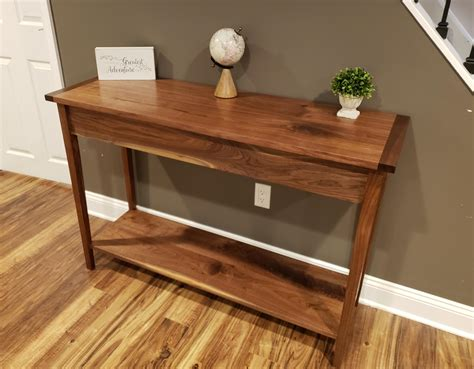 Shaker Style Sofa Table by I Made A Walnut Shaker Style Console Table Woodworking