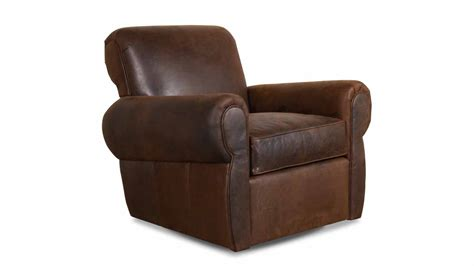 Cococohome Club Classic Leather Swivel Chair Made In Usa Leather Swivel Club Chairs