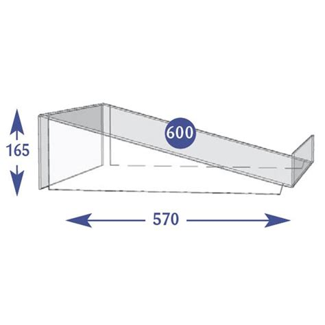 Angled Shelf by Confectionary Shelves Crisp Bins 600mm Angled Base