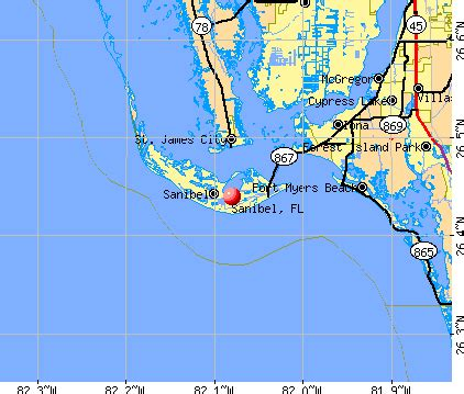 sanibel florida fl 33957 profile population maps