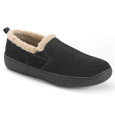 kohls mens bedroom slippers hideaways roderic suede men s wide width slippers