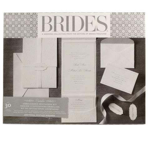 brides printable wedding invitation kits brides 174 premium white invitation kit diy wedding