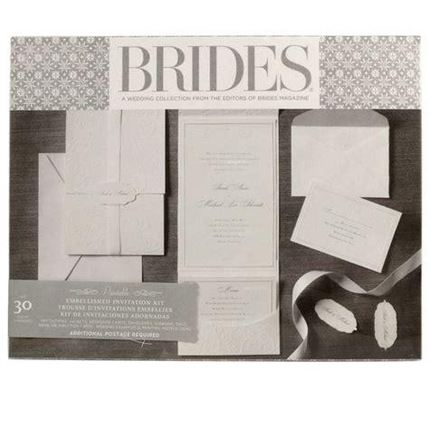 Brides® Premium White Invitation Kit   DIY Wedding