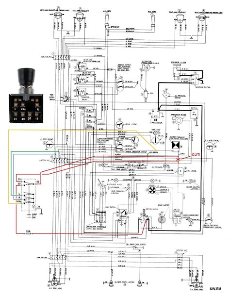 light wig wag wiring diagram and circuit schematic