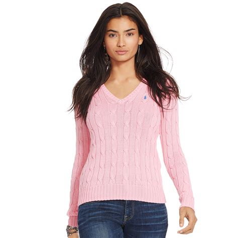 Sweater Unisex Polos Pink womens pink cable knit sweater fashion skirts