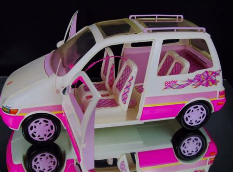 barbie cars with back vtg mattel 1995 barbie picnic van suv back door grill baby