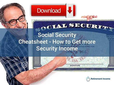 social security sheet how to get more social