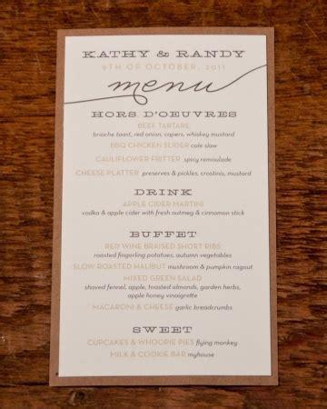 rustic menu card private events business pinterest