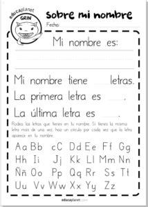 Escribe tu nombre - actividades lectoescritura infantil