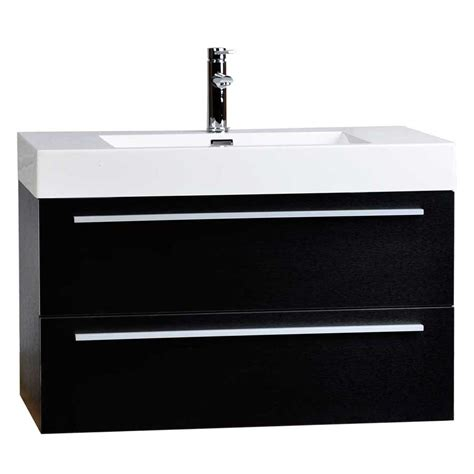 Wall Mounted Bath Vanity by Wall Mount Bathroom Vanity Black Tn M900 Bk Conceptbaths