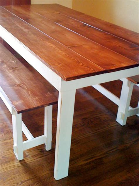 wooden bench for dining room table chic white combined with glossy brown creating easy diy