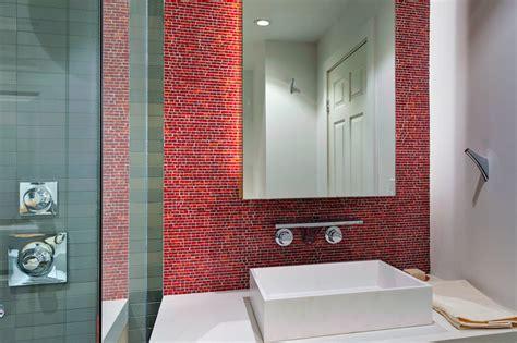 Modern Bathroom Backsplash Ideas Concealed Lighting At The Backsplash Effect Modern
