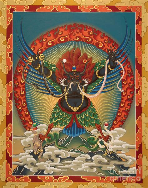 Garuda Painting by Black Garuda Tsasum Tersar Painting By Sergey Noskov