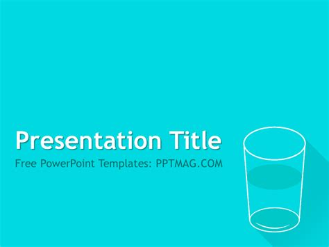 free glass of water powerpoint template pptmag
