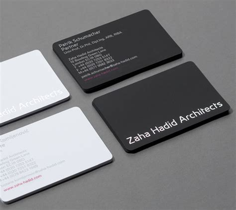 architect business card zaha hadid architects simple business cards