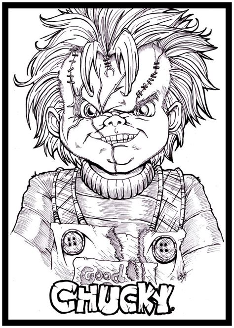 772 best images about drawing on pinterest coloring how return of chucky by kim san png 600 215 840 kleurplaten