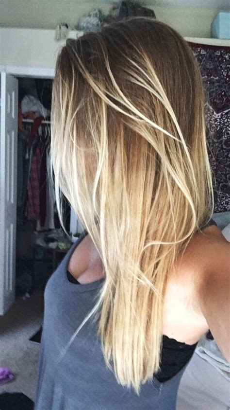 hair styles for light hair long smooth blonde ombre hair cute long ombre hairstyle