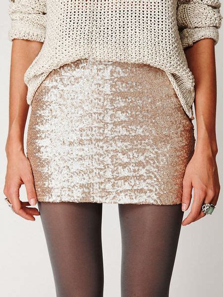 free people sequin skirt free fever sequin bodycon skirt in gold chagne lyst