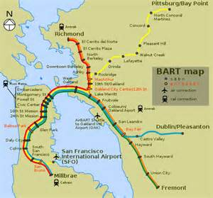 Bay Area Bart Map by Bart Transit Dragon Of Doom Black Maps Science