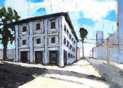 Landscape Artists Buildings Builders Supply Building Italy Original
