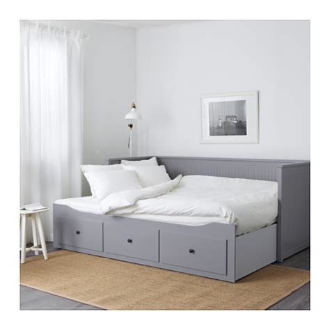 tarva extendable daybed with 2pcs uratex mattresses hemnes day bed w 3 drawers 2 mattresses grey moshult firm