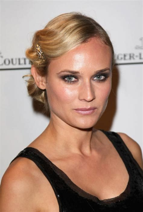 Diane Kruger Hairstyles by Diane Kruger Retro Updo Hairstyle 2018