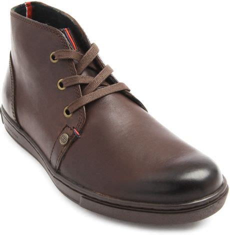 Hilfiger Brown Leather 1791056 hilfiger sanderson brown leather boots in brown for lyst