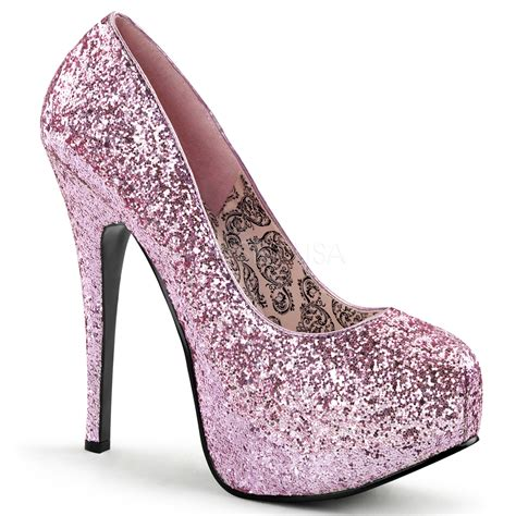 High Heels Glitter glitzer plateau pumps pink highheels boutique