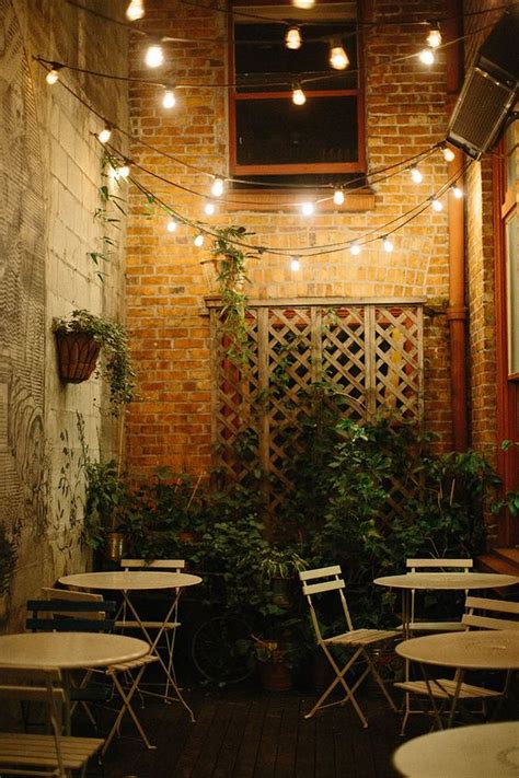 loving the string lighted patio at oddfellows cafe in