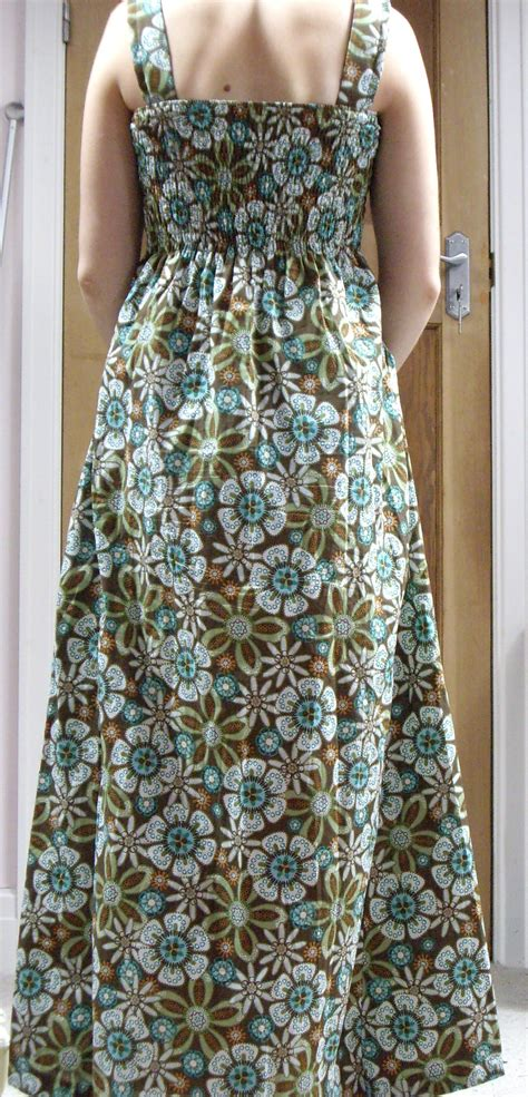 shirred maxi dress sewing projects burdastylecom