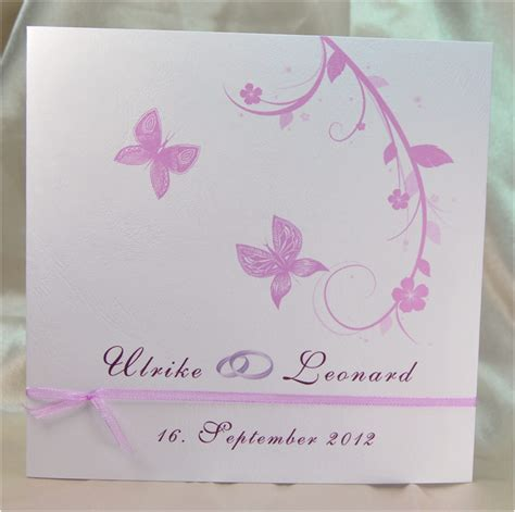 Einladungskarten Hochzeit Schmetterling by Www My Own Story De Einladungskarte In Flieder Aus Dem