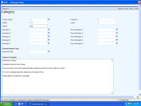 Support Ticket Categories Support Tracker Net It Support Ticket Template