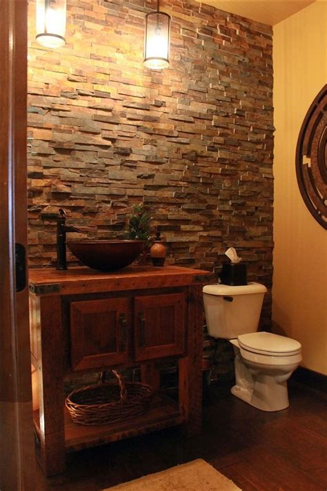 rustic reclaimed barnwood bathroom vanity with copper