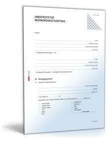 Muster Rechnung Miete Mietvertrag Wohnung Rechtssicheres Muster Zum