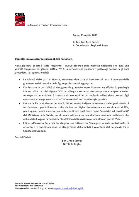 comunicato accordo mobilita nazionale poste