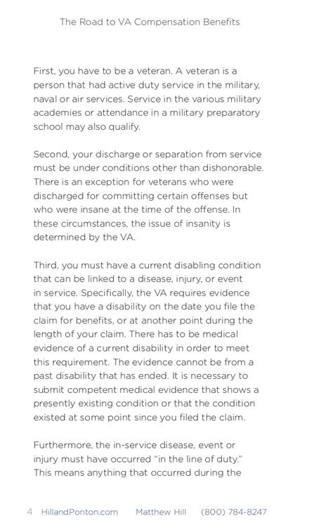 Va Statement Of Service Letter Exle The Road To Va Compensation Benefits