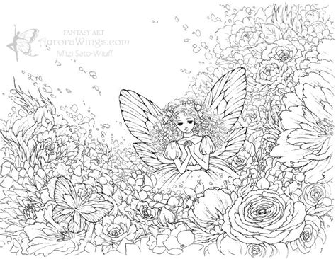 intricate fantasy coloring pages aurora wings fantasy art of mitzi september 2011