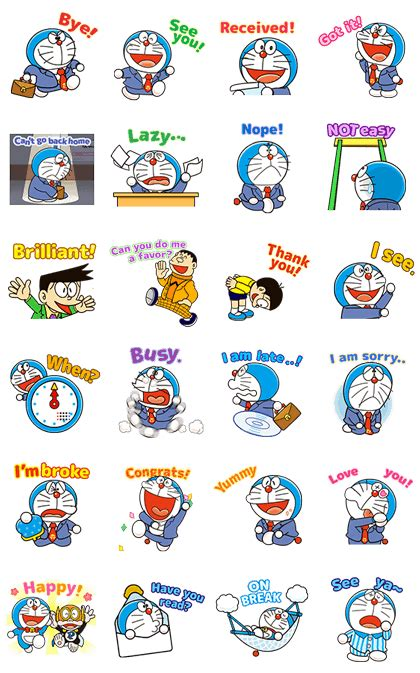 Wallpaper Doraemon Wallpapersticker Doraemon Stiker Doraemon doraemon animated stickers line stickers