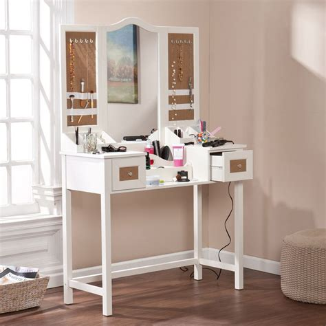 Bedroom Vanity With Jewelry Storage by Boston Loft Furnishings Atg3857 Shawn Vanity Desk With
