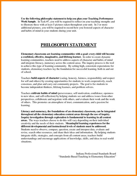 5 teaching philosophy statements exles statement 2017