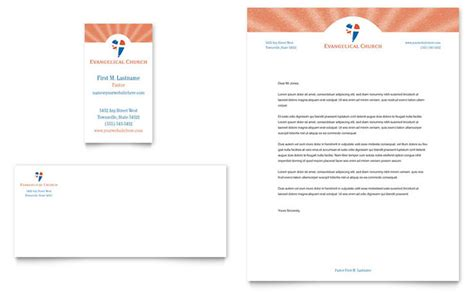 church letterhead template evangelical church business card letterhead template design