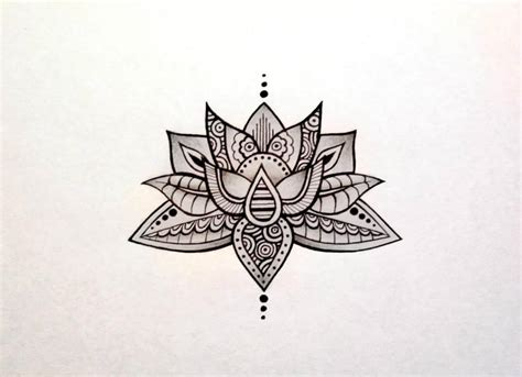 lotus tattoo design by asdfghjklmaud on deviantart