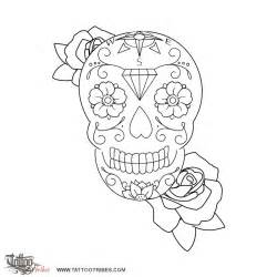 Coloring Stencils Skull Tattoo Pages sketch template