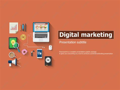 Digital Marketing Ppt Template Goodpello Digital Marketing Presentation Template Free