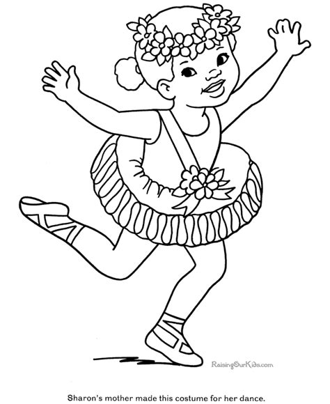 ballerina dress coloring pages ballet coloring book coloring home