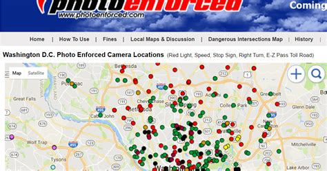 dc red light camera locations photo enforced washington dc protests are being recording